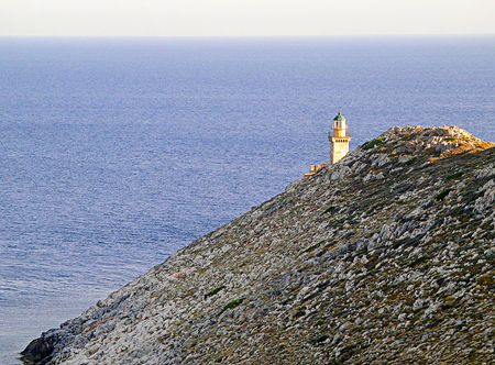 Lighthouse on the southernmost point of Europe in Greece.