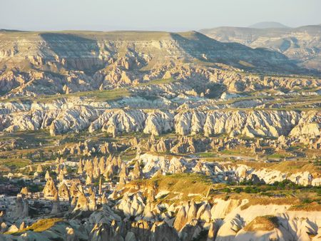 hermits: Unusual landscape of Cappadocia, landmark of Turkey.