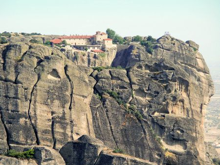 impregnable: Rocks, on the tops of which are located the monasteries of Meteora.