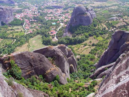hermits: Rocks, on the tops of which are located a monasteries of Meteora.