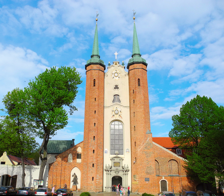 Gdansk, Poland - 7 May, 2015: Gdansk Oliwa Archcathedral.