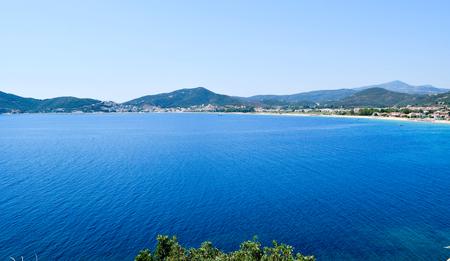 Coast of the town Nea Iraklitsa in Greece.