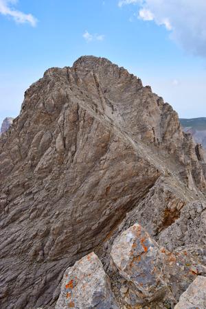olympus: Mytikas, the highest peak of Olympus, Greece.