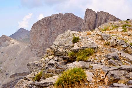 olympus: Skala, Mytikas and Stephani, the highest peaks of Olympus.
