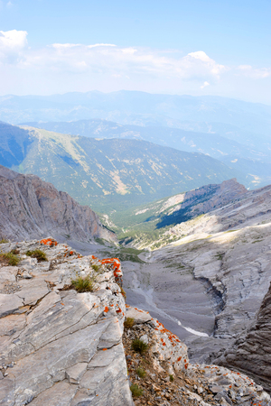 Landscape opening from the top of Mount Olympus. Фото со стока