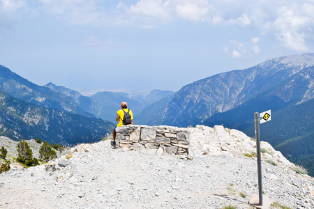olympus: Short respite while climbing Olympus, highest mountain in Greece.
