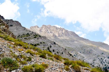 Olympus mountain range at summer in Greece. Stock Photo