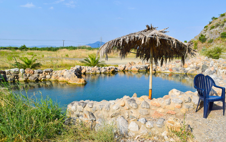 Healing thermal baths near the town of Kamena Vourla in Greece.