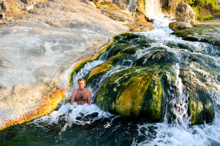 Spa treatments in the thermal springs Thermopylae, Greece.