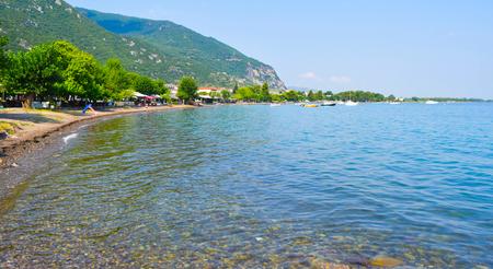 Landscape of Kamena Vourla on Aegean seacoast, Greece.  Stock Photo