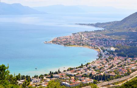 Cityscape of Kamena Vourla on Aegean seacoast, Greece.