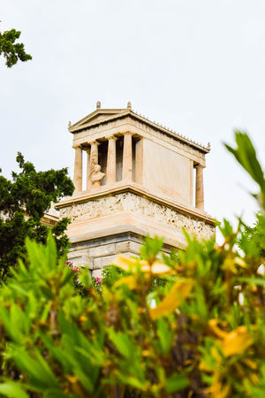 Athens, Greece - July 16, 2017: First Cemetery of Athens. Grave of Heinrich Schliemann, German businessman and archaeologist. Editorial