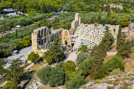 Odeon of Herodes Atticus in Athens, Greece. Stock Photo