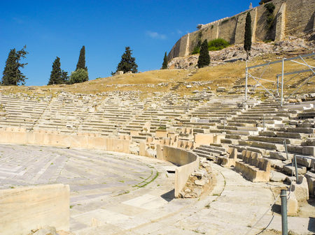 The theater of Dionysus at the Acropolis of Athens.