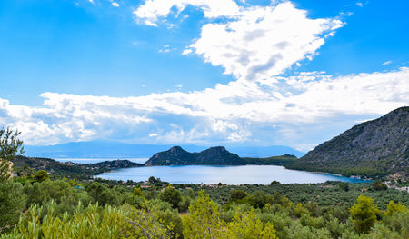 Landscape of the Heraion (Vouliagmeni) in Greece.