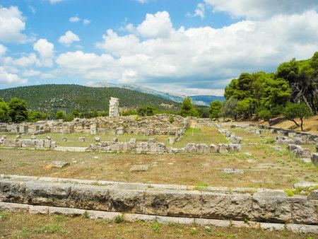 Ruins of the Greek temple of Asklepion, Epidaurus, Greece.