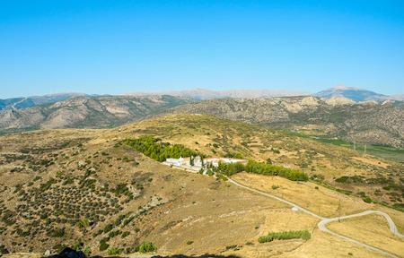 Panoramic view of the Monastery of Agioi Anargyroi, Argos, Greece.