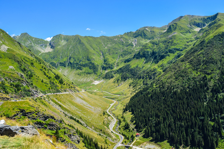 The Transfagarasan mountain road, located in Romani