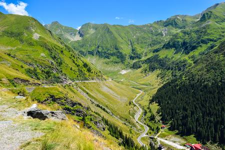 The Transfagarasan mountain road, located in Romania. 版權商用圖片