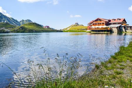 The lake Balea, located on the pass of the Transfagarasan road. Romania.