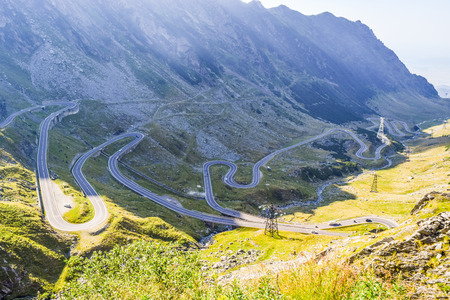 The Transfagarasan mountain road, located in Romania. 免版税图像 - 112892404