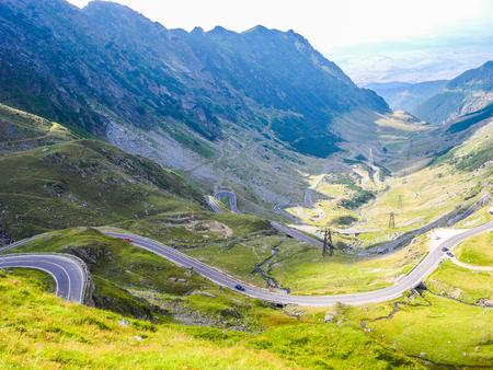 The Transfagarasan mountain road, located in Romania. 免版税图像