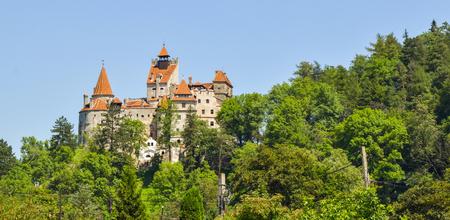 Landscape of Bran Castle in Transylvania, Romania.
