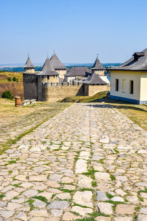 The Khotyn Fortress over the Dniester River. Ukraine. Editorial