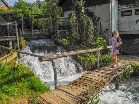 Waterfalls in the rivers Slunj and Koran. Croatia.