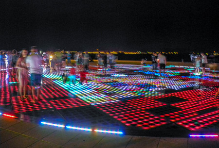 "The installation ""Greeting to the sun"" in Zadar, Croatia."