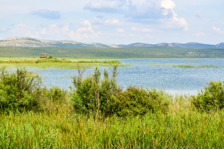 Landscape of Vrana Lake, Dalmatia, Croatia.
