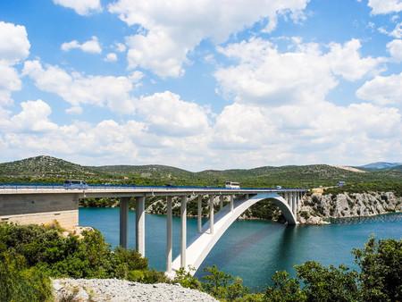 The Krka Bridge on the way to Sibenik, Croatia.
