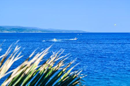 Seascape of Adriatic coastal of Croatia.