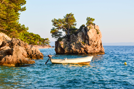 Brela Rock, Punta Rata Beach, Makarska Riviera, Croatia.. Stock Photo