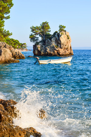 Brela Rock, Punta Rata Beach, Makarska Riviera, Croatia..