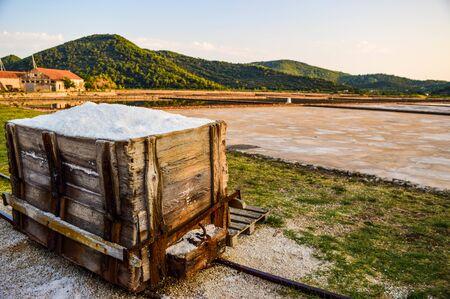 The oldest saltworks in Europe, Ston, Peljesac Peninsula, Croatia.