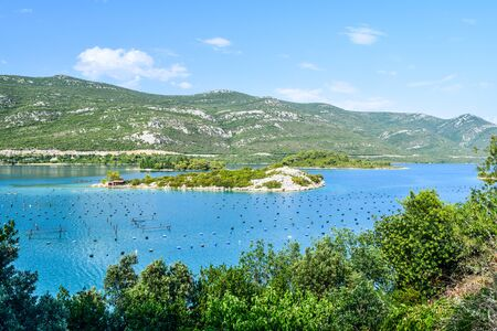 Oyster Farm, Ston, Peljesac Peninsula, Croatia.