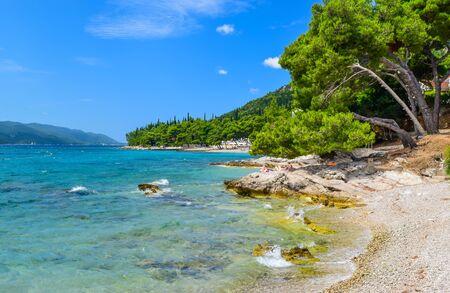 Orebic beach, Peljesac peninsula, Croatia.