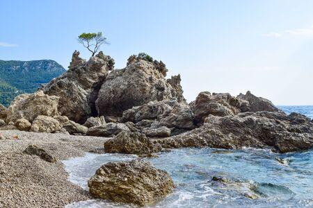 Small cozy romantic Drance beach, Peljesac peninsula, Croatia. 版權商用圖片