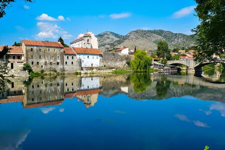 Trebinje cityscape and trebinj river. Bosnia and Herzegovina. 写真素材 - 134775233