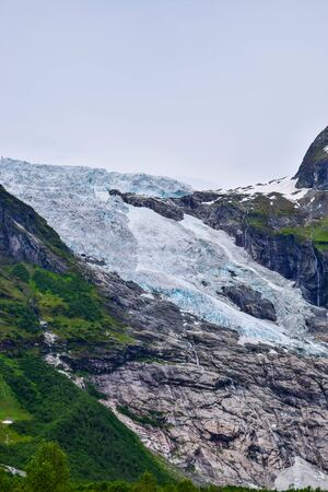 The Boyabreen glacier, which is the sleeve of the large Jostedalsbreen glacier in Norway.
