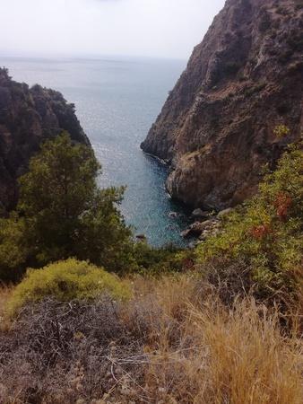 View over Delik Deniz in GazipaÅŸa, Turkey