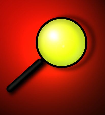 investigators: Magnifying glass,illustration