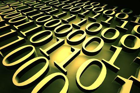 Binary code,3d rendered art Stock Photo - 3320603