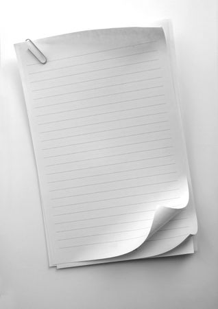 Writing note paper on gradient background Stock Photo - 3320695