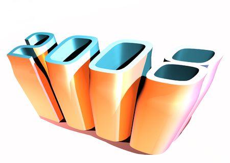 3d art: 2008 A�o Nuevo, el arte en 3D  Foto de archivo