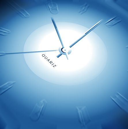 Time & space, 2D illustration Stock Photo