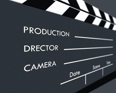 Color Film Clapboard,2D art photo