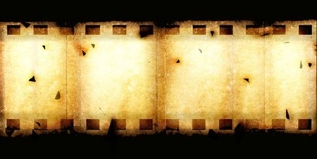 movie pelicula: Old 35 mm de rollo de pel�cula de cine, arte digital 2D de Foto de archivo