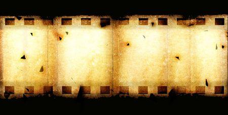 35: Old 35 mm movie Film reel,2D digital art